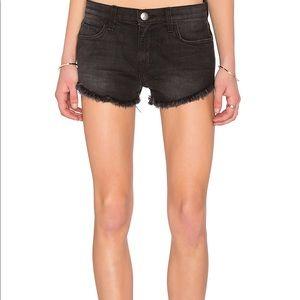 Free People Dust Destroy Gam Black Jean Shorts 27